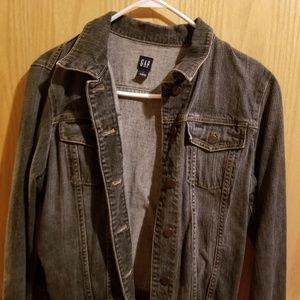Black Distressed Gap Jean jacket